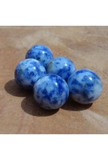 Interchangeable gemstone Sodalite blue 12 mm