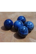 Interchangeable gemstone Sodalite dark blue 12 mm