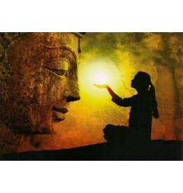 ZintenZ postkaart Buddha light