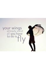 ZintenZ postkaart Your wings already exist