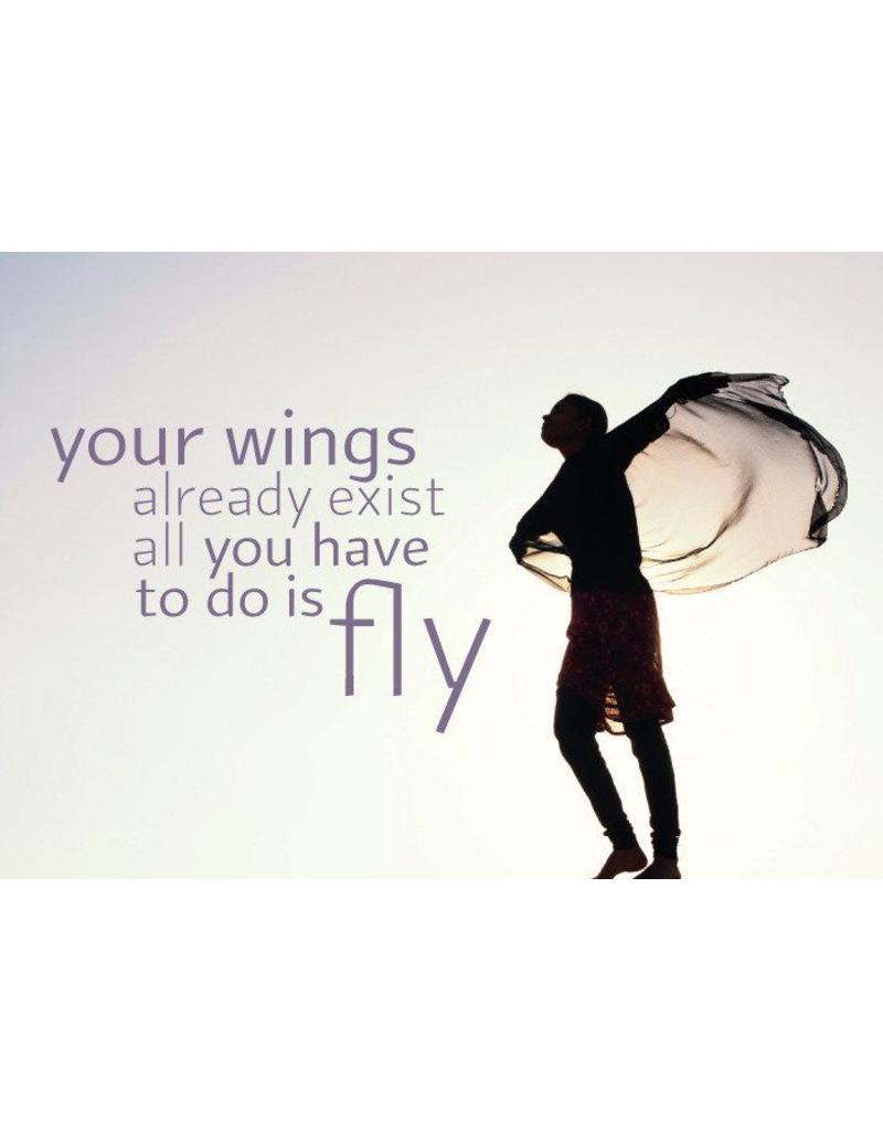 ZintenZ postcard Your wings already exist