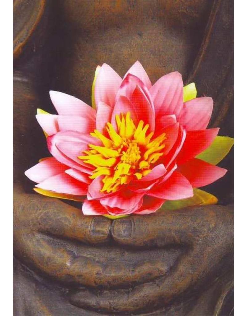 ZintenZ postcard Buddha lotus