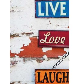 ZintenZ postkaart Live Love Laugh
