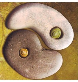 Tushita postcard Yin yang stones