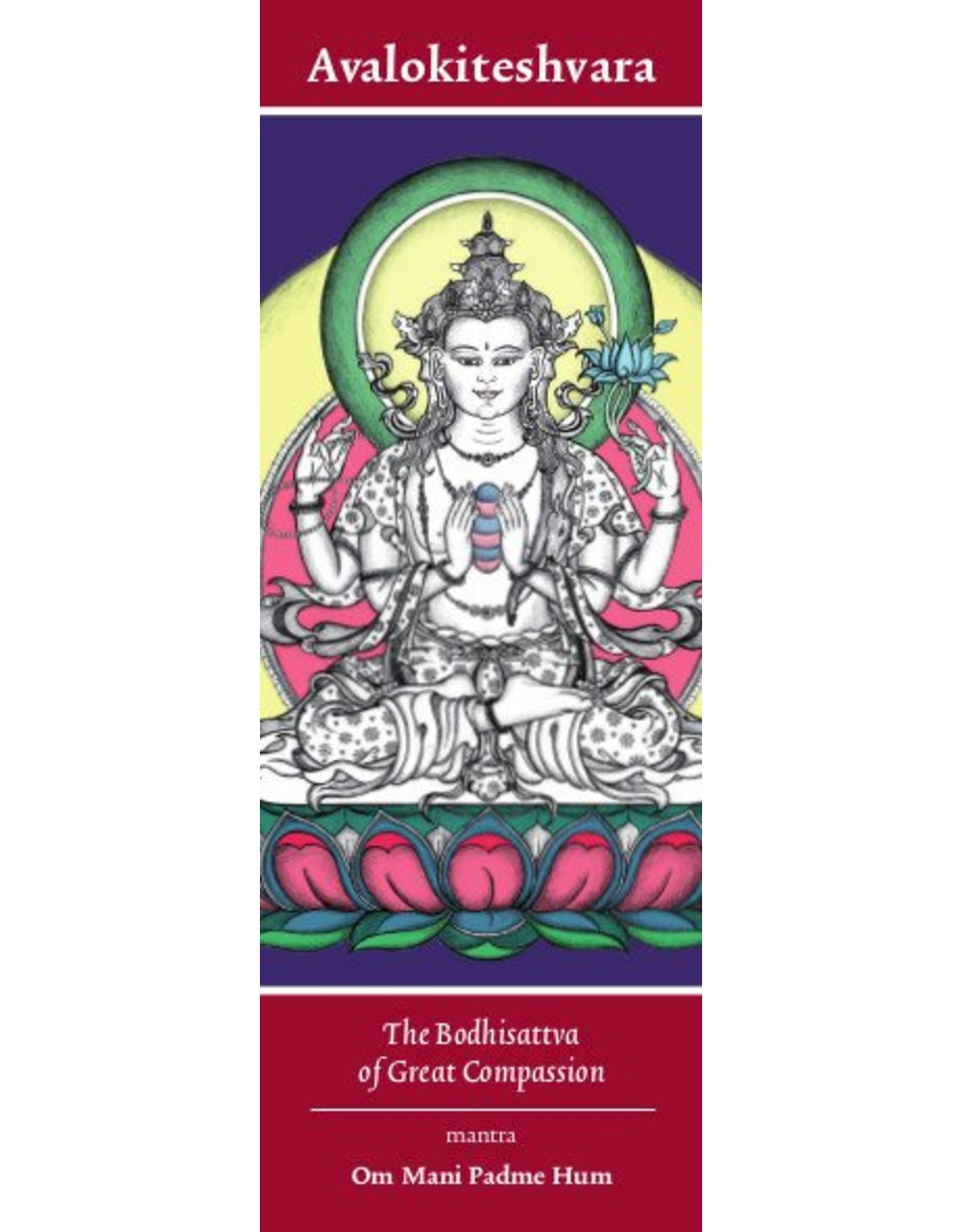 Tibetan Buddhist Art bookmark Avalokiteshvara