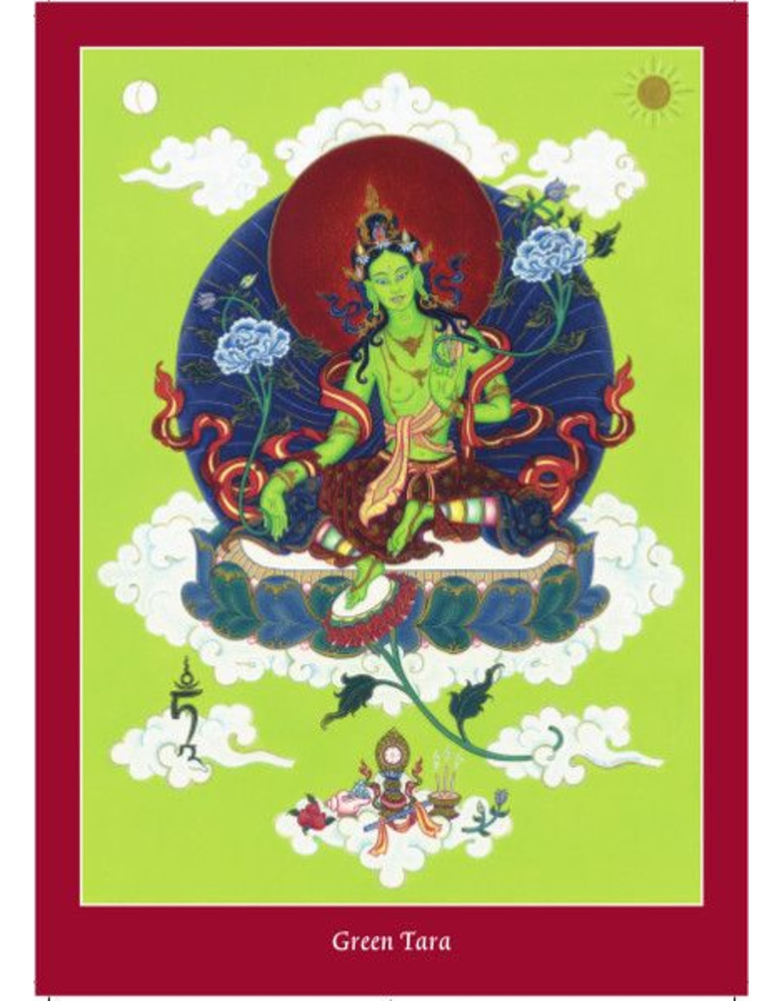 Tibetan Buddhist Art postcard Green Tara