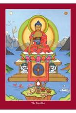 Tibetan Buddhist Art postkaart Shakyamuni Boeddha