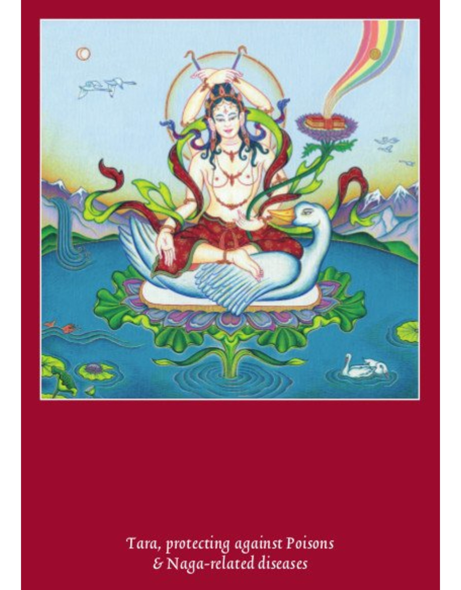 Tibetan Buddhist Art postkaart Tara