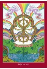 Tibetan Buddhist Art postkaart Vajra