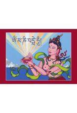Tibetan Buddhist Art postkaart Offerande Godin