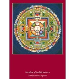 Tibetan Buddhist Art postkaart Mandala Avalokiteshvara