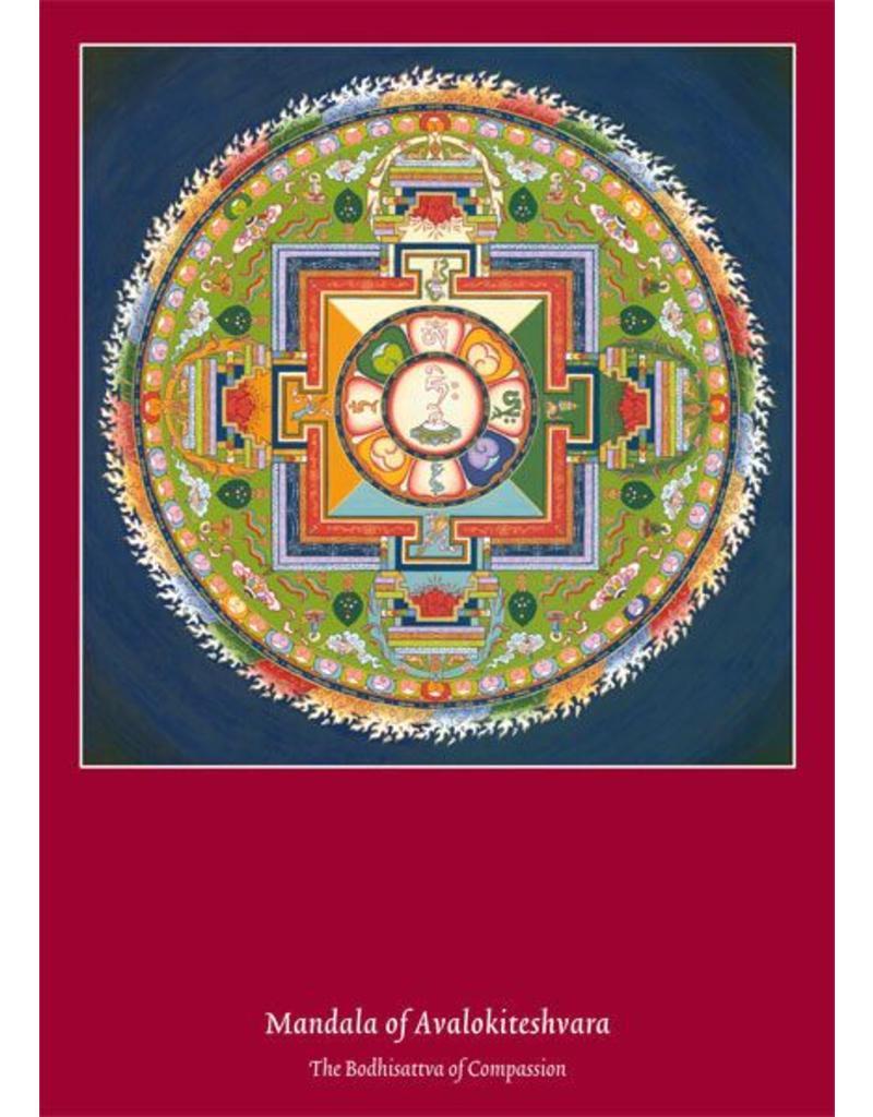 Tibetan Buddhist Art postcard Mandala of Avalokiteshvara