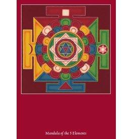 Tibetan Buddhist Art postcard Mandala 5 Elements