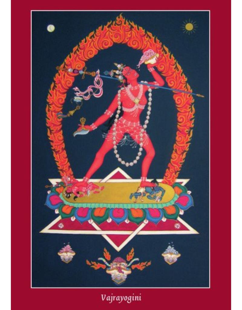 Tibetan Buddhist Art postcard Vajrayogini