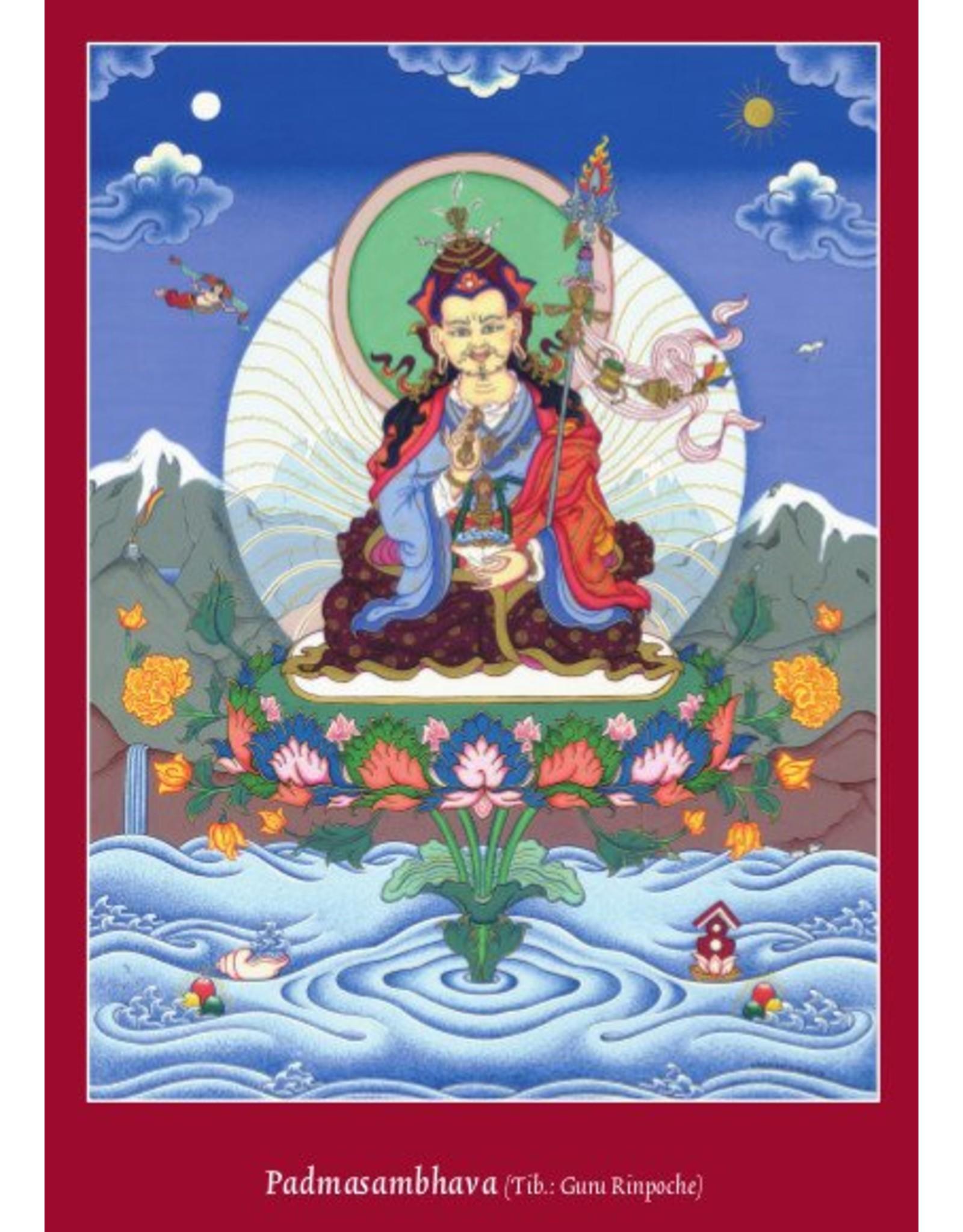 Tibetan Buddhist Art postcard Padmasambhava