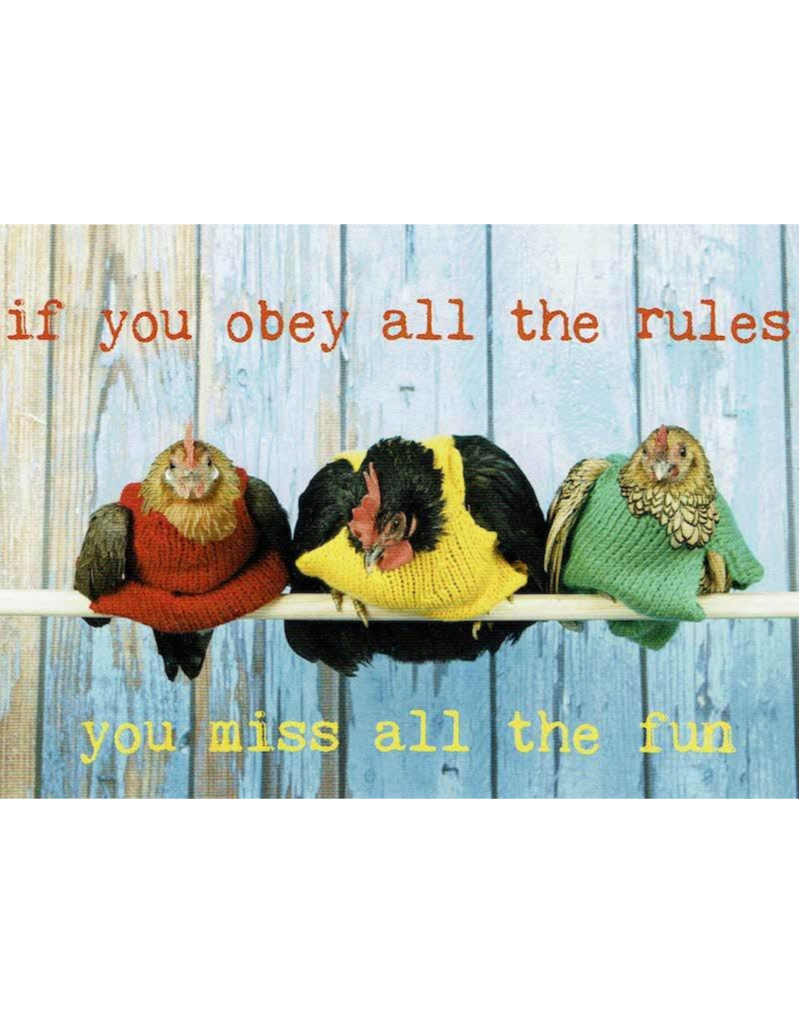 ZintenZ postcard If you obey all the rules