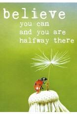 ZintenZ postkaart Believe you can