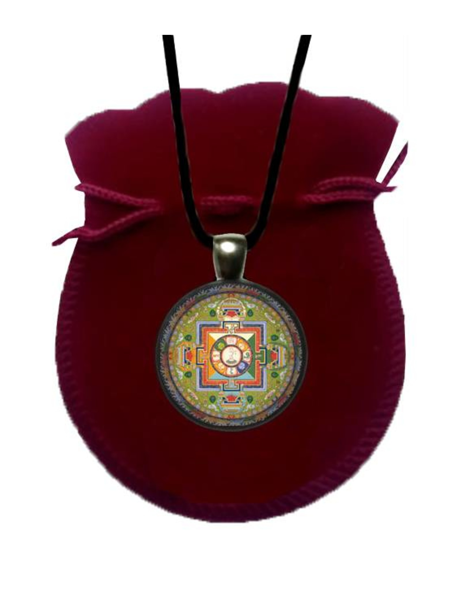 Tibetan Buddhist Art necklace Mandala of Avalokiteshvara