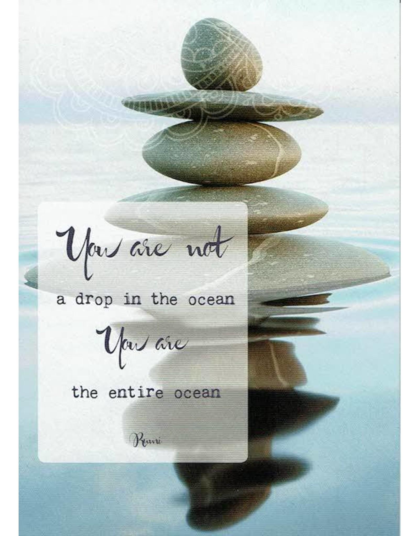 ZintenZ postkaart You are not a drop in the ocean