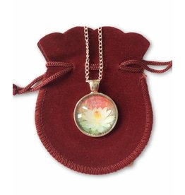 Tibetan Buddhist Art necklace Lotus