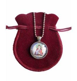 Tibetan Buddhist Art necklace Padmasambhava silver