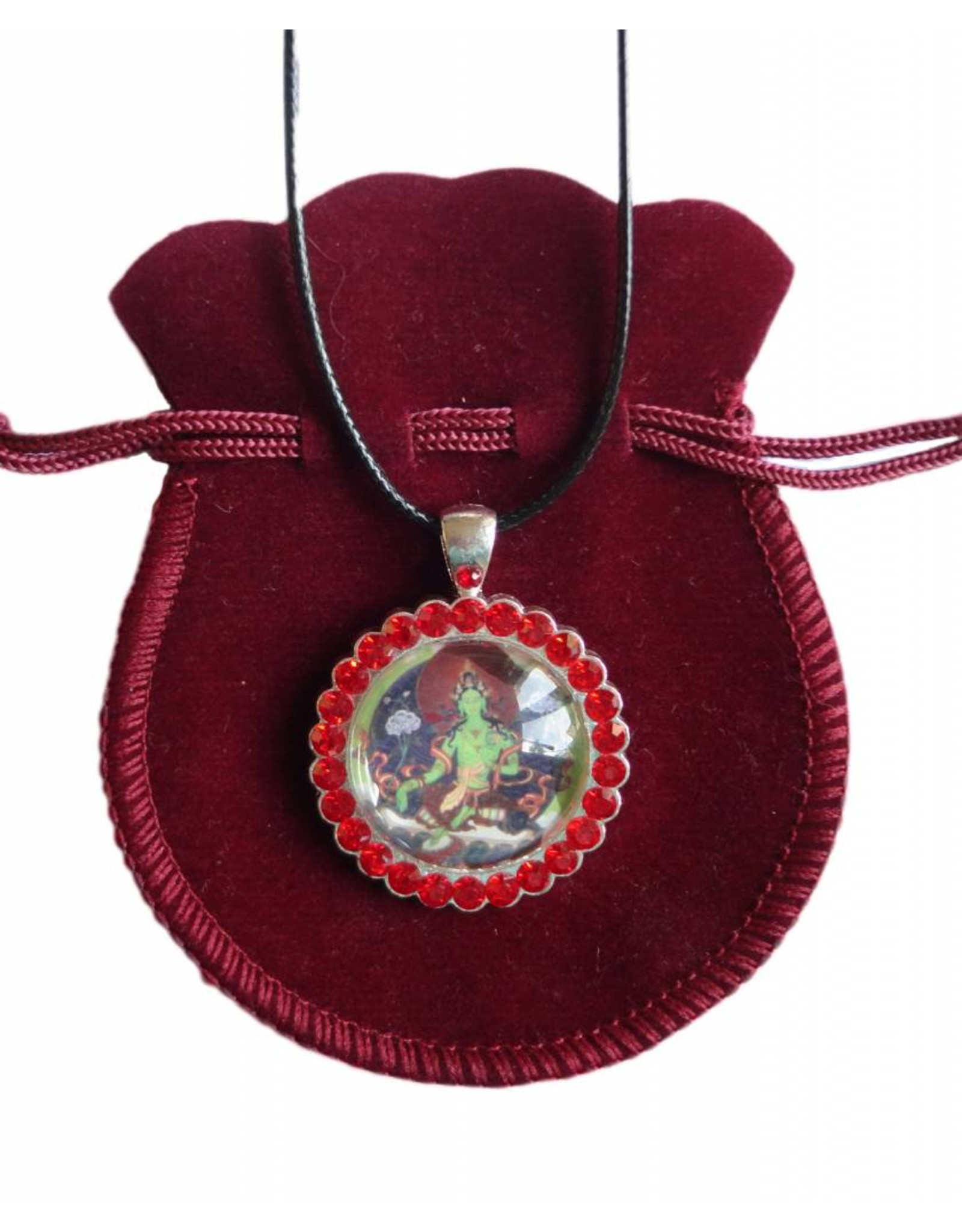 Tibetan Buddhist Art ketting Groene Tara