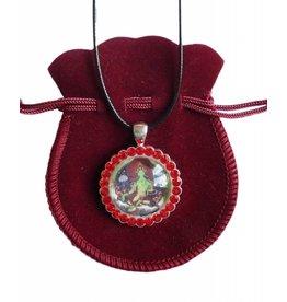 Tibetan Buddhist Art necklace Green Tara