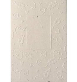 Cotton growing paper christmas card with holly