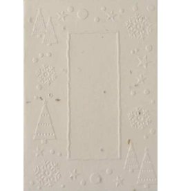 Cotton growing paper christmas card with trees