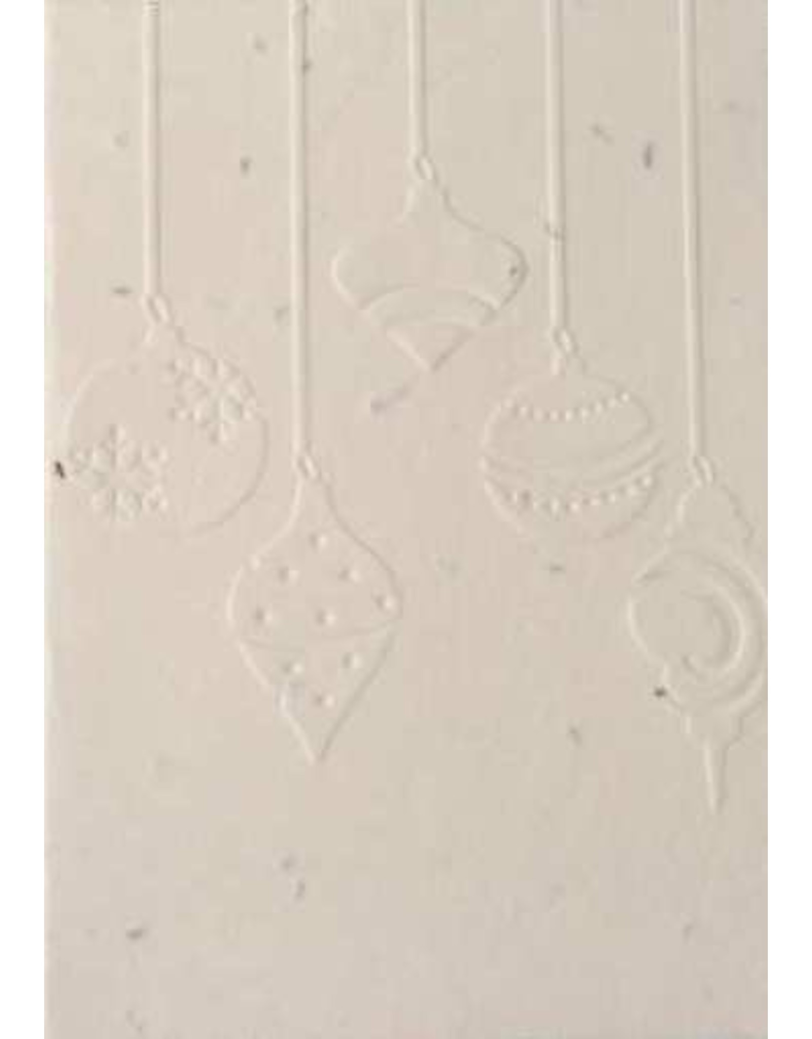 Cotton growing paper christmas card with ornaments