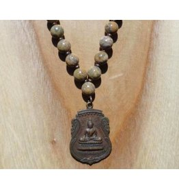 JewelryByM necklace leopard stone & Buddha
