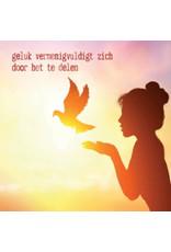 ZintenZ postkaart Geluk vermenigvuldigt zich door