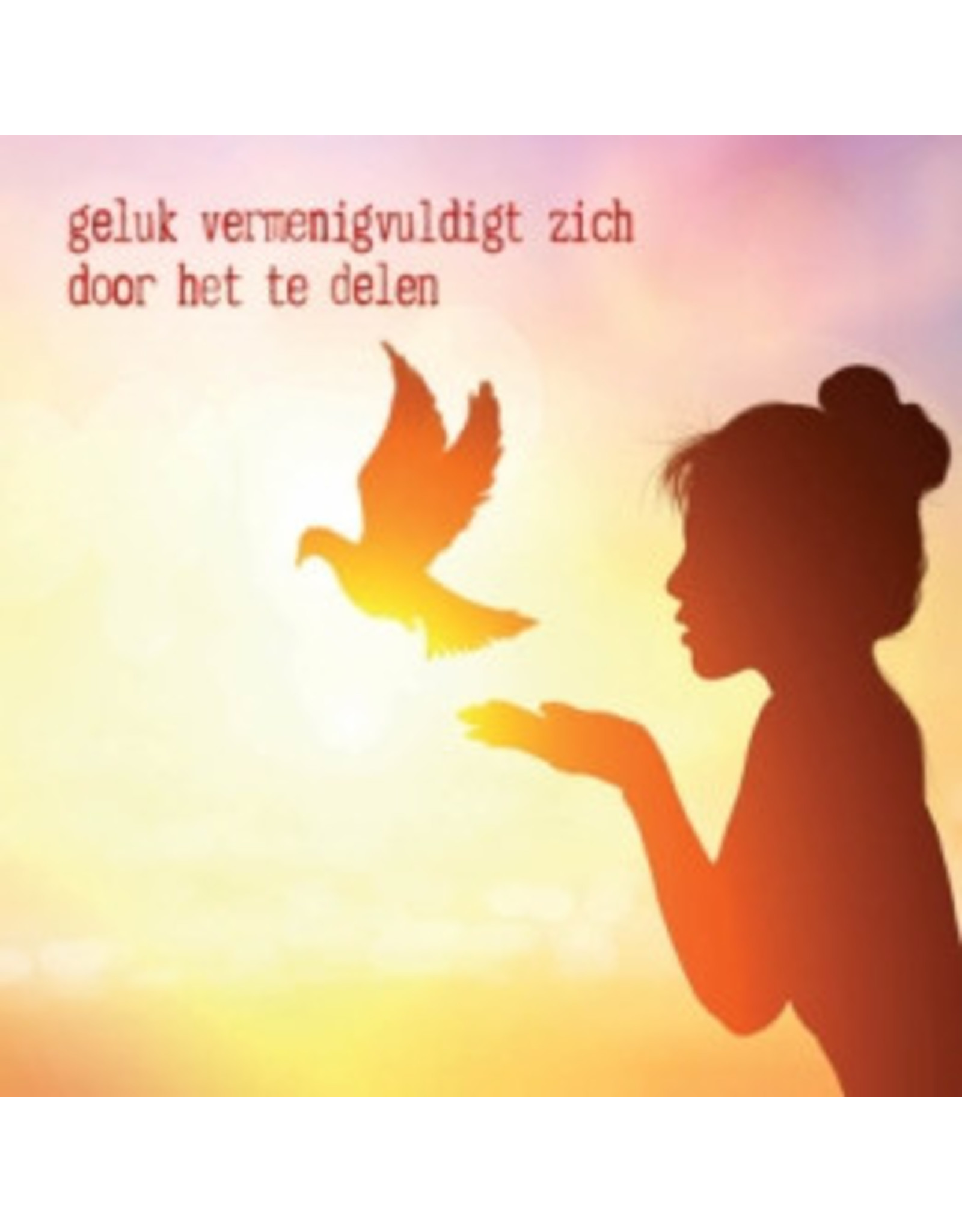 ZintenZ postcard Geluk vermenigvuldigt zich door