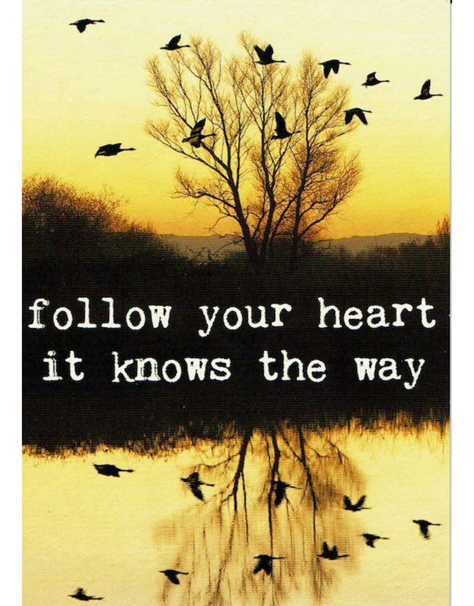 ZintenZ postcard Follow your heart