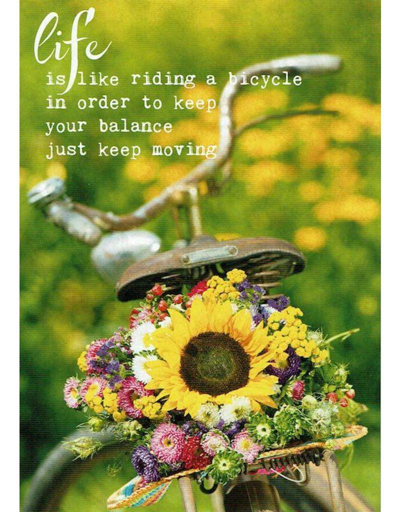 ZintenZ postkaart Life is like riding