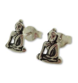 Shanti stud earrings Buddha
