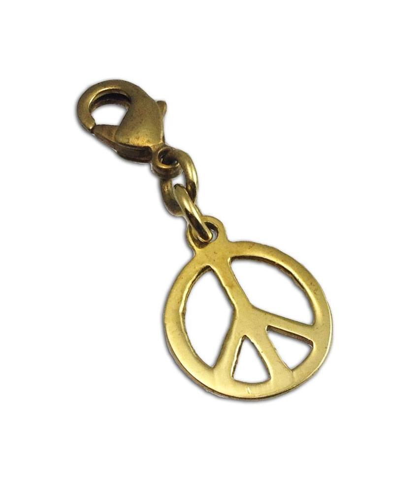 Shanti charm peace recycled brass