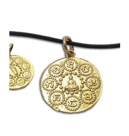 "Shanti ketting ""Om mani padme hum"" gerecycled messing"