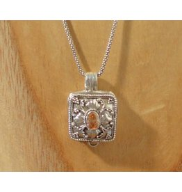 Keepsake locket square citrine