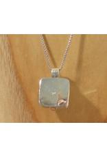 Keepsake locket square amethyst