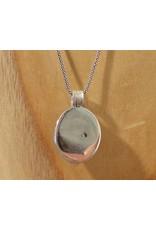 Keepsake locket oval amethyst