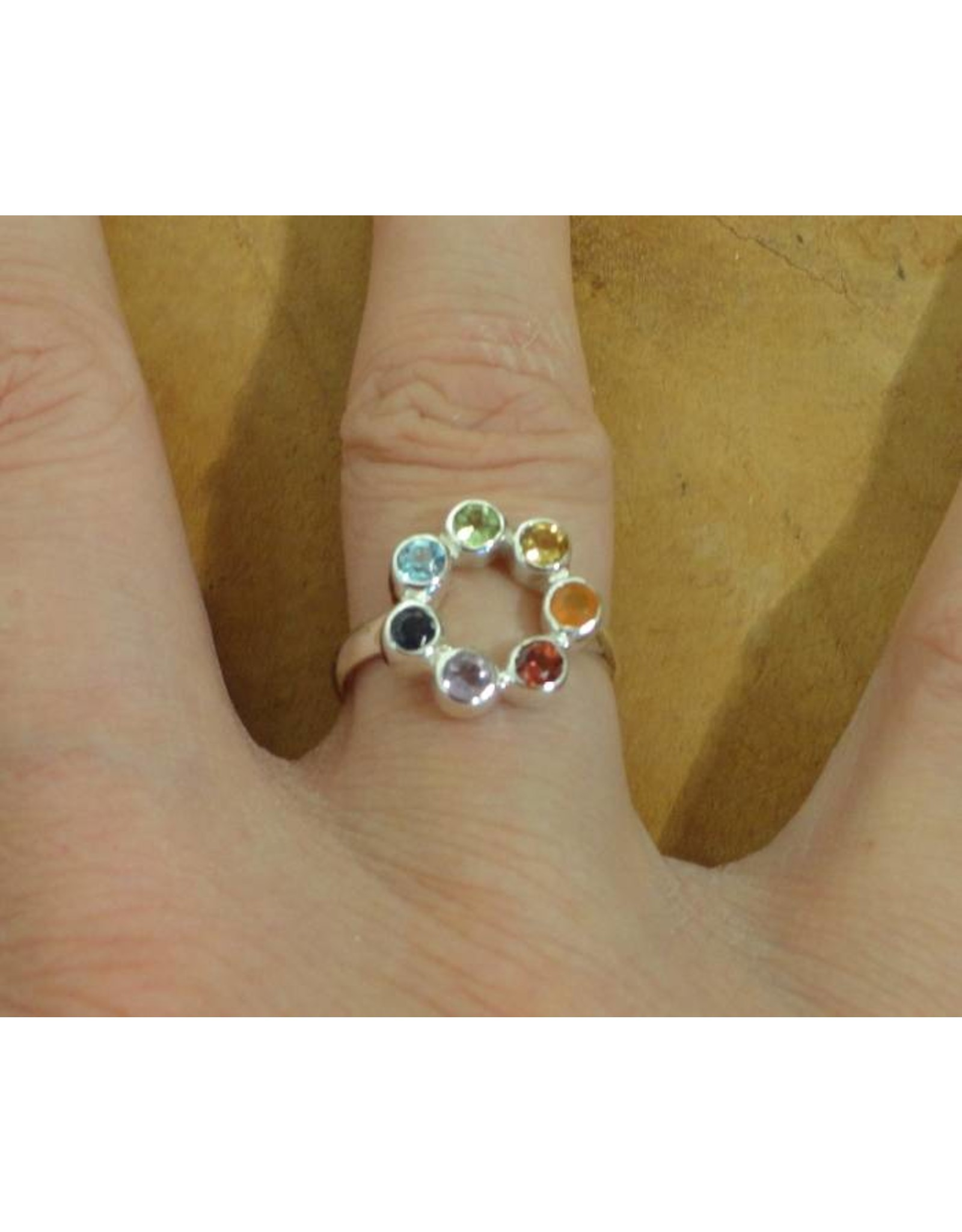 Shanti ring seven chakras circle of happiness