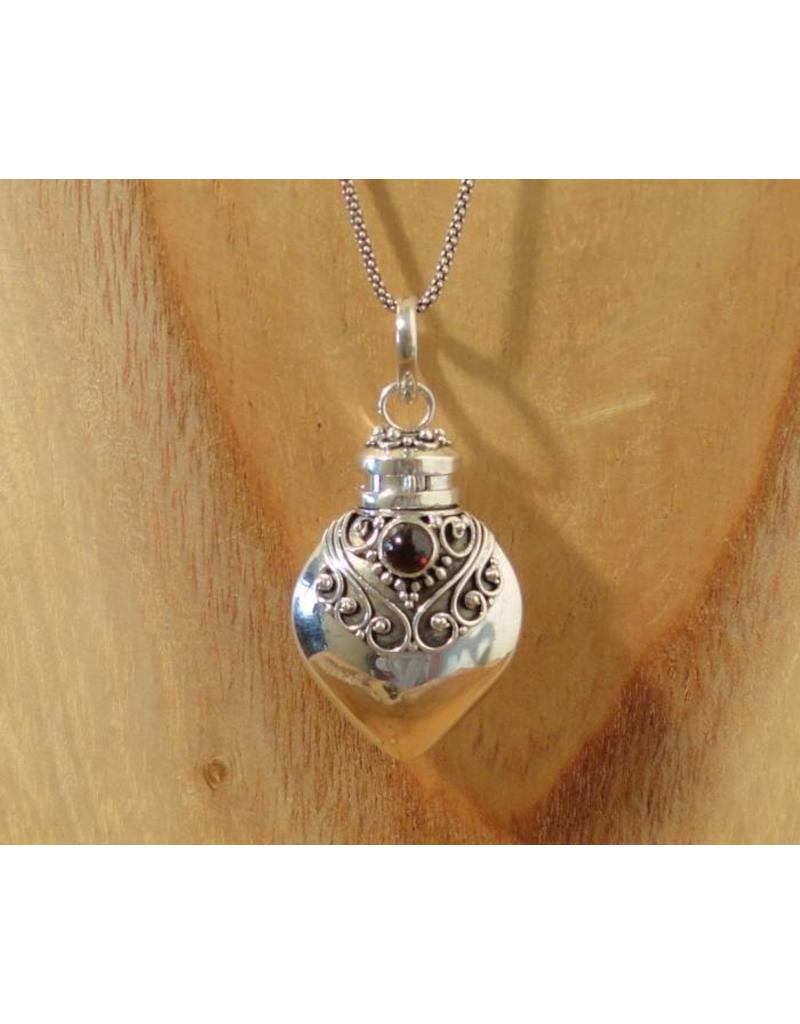Keepsake locket bottle garnet