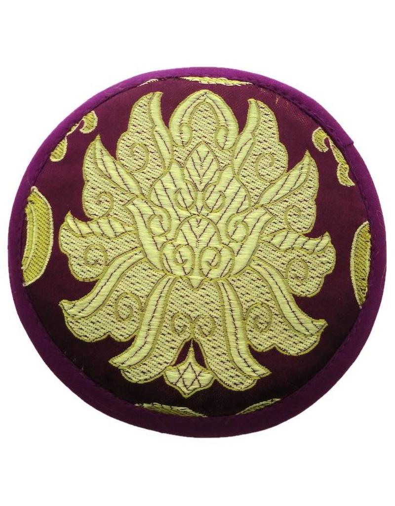 Dakini singing bowl cushion of brocade small