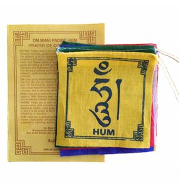 Dakini Tibetan prayer flags mini Om mani padme hum