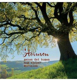 ZintenZ postcard Stormen maken dat bomen