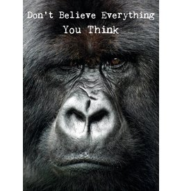 ZintenZ postcard Don't believe everything you think