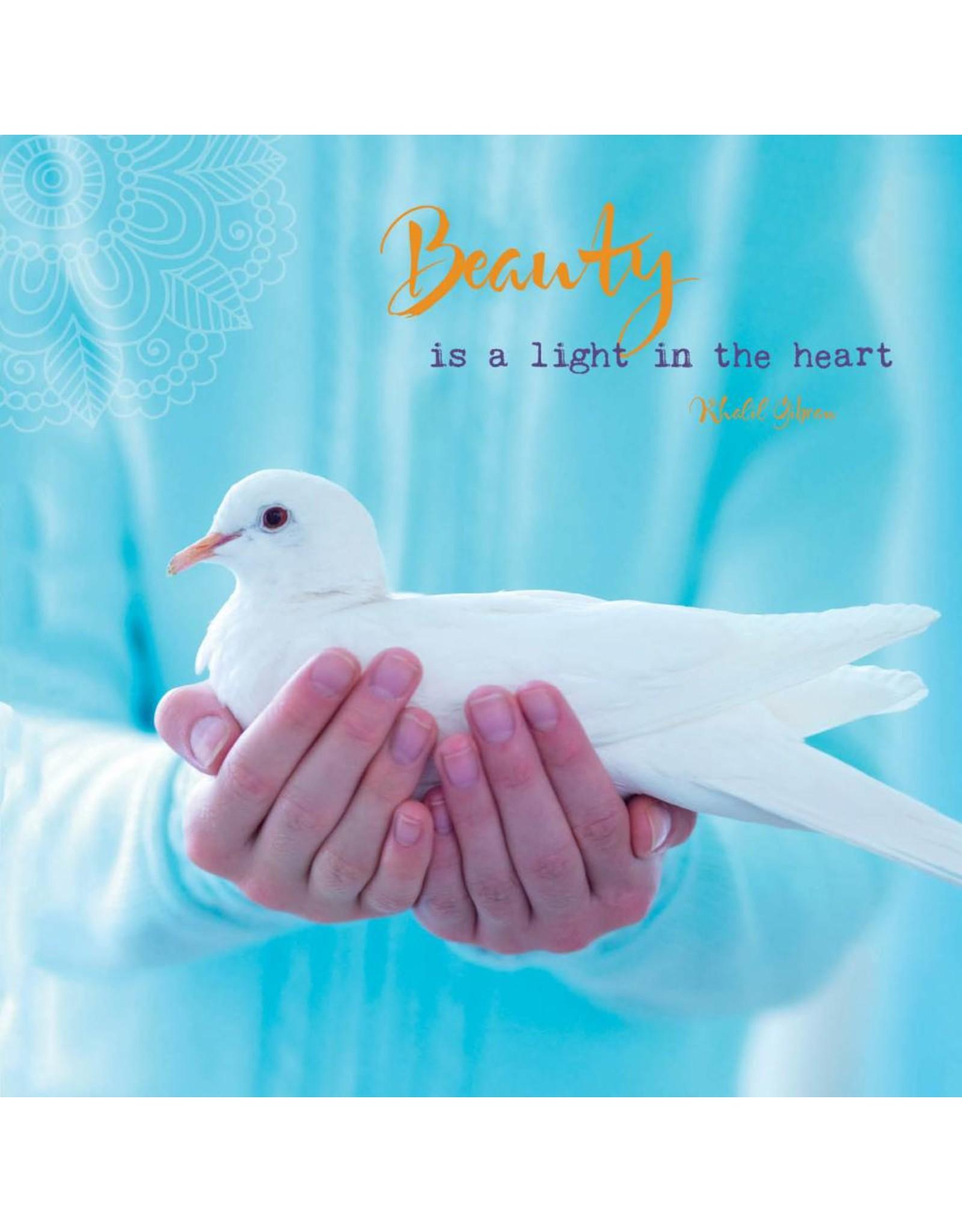 ZintenZ postcard Beauty is a light in the heart