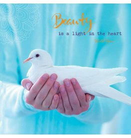ZintenZ postcard Beauty is a light in the heart