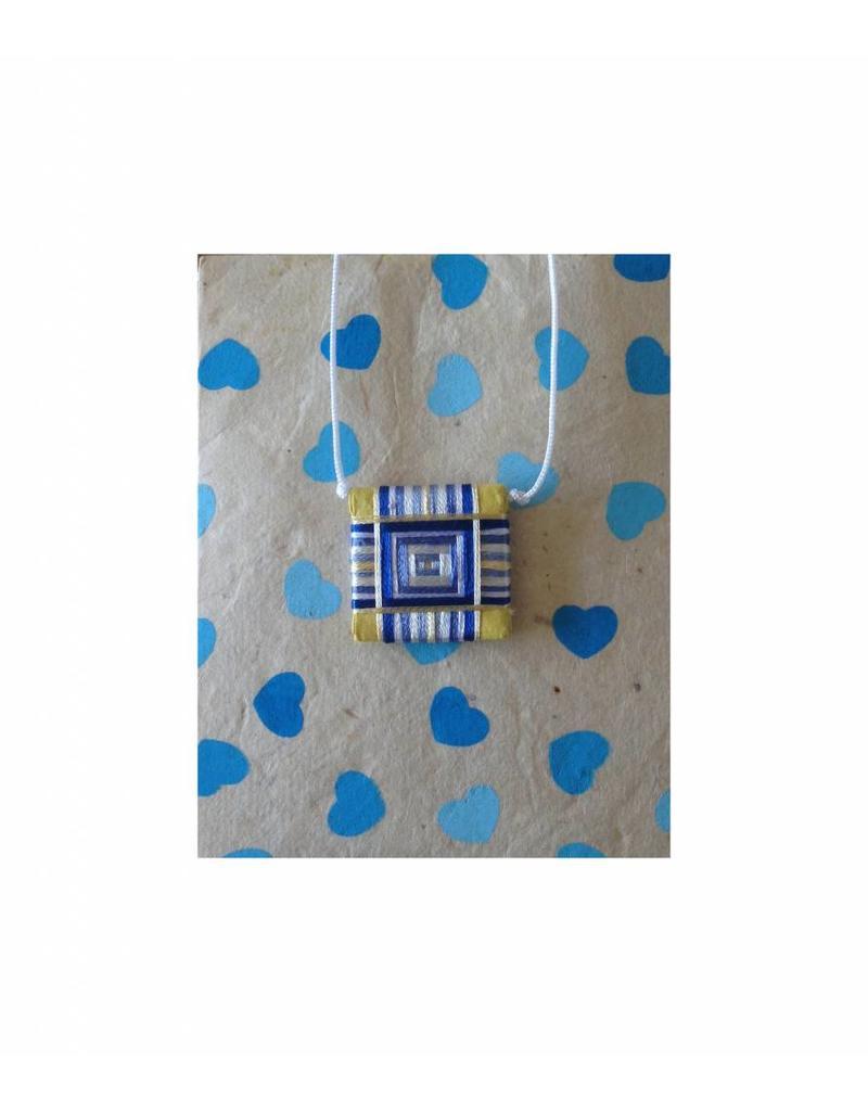 Dakini Tibetaans geboortejaar amulet Shakyamuni blauw